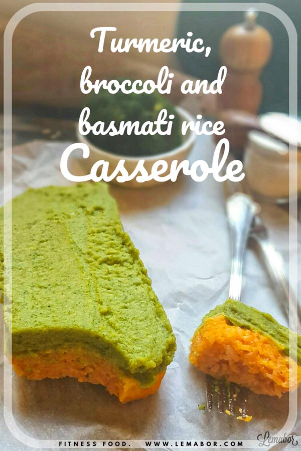 turmeric and basmati rice casserole with broccoli