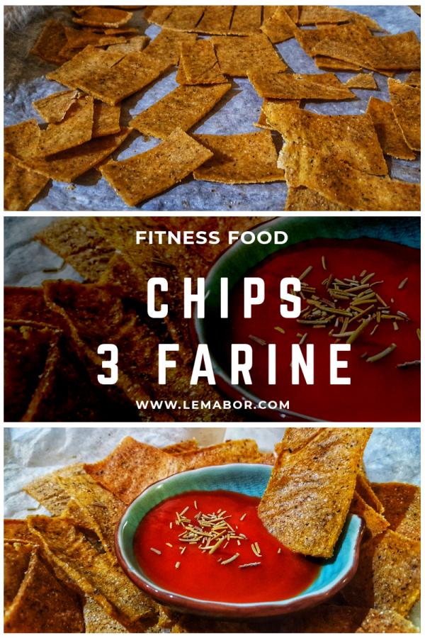 chips al forno alle 3 farine