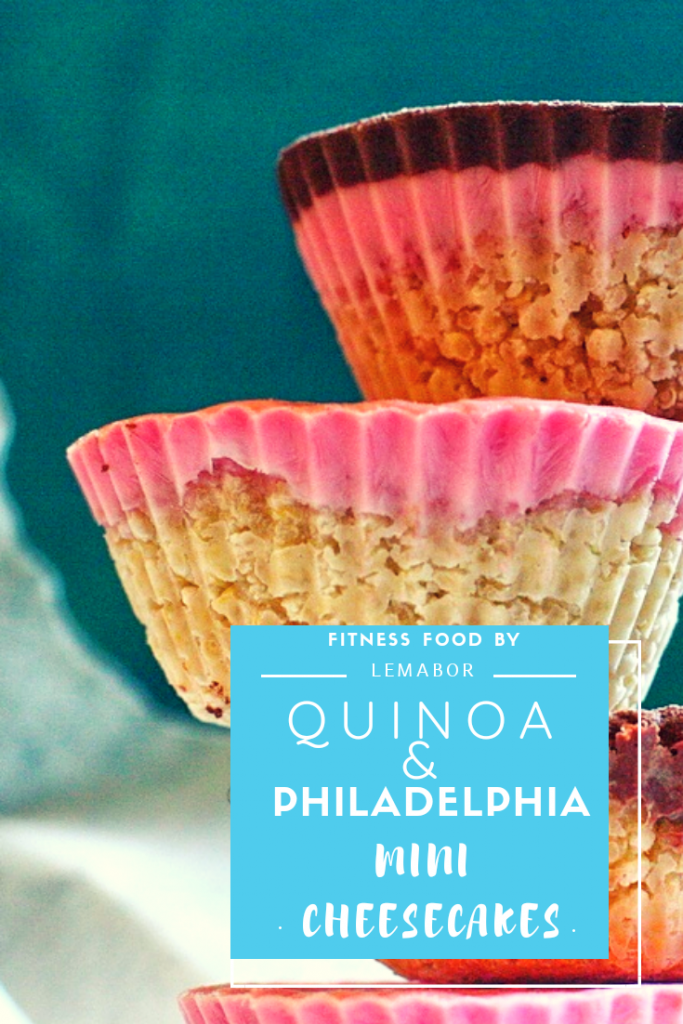 quinoa and philadelphia mini cheesecakes