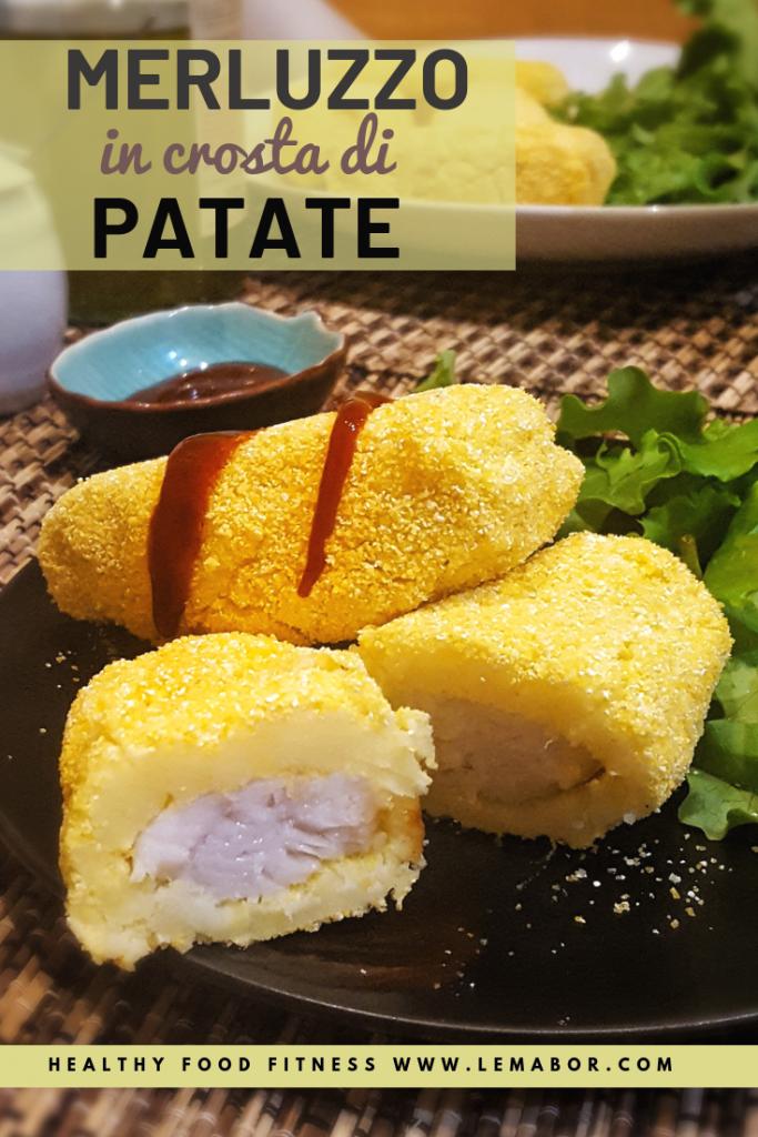 merluzzo in crosta di patate a bastoncini
