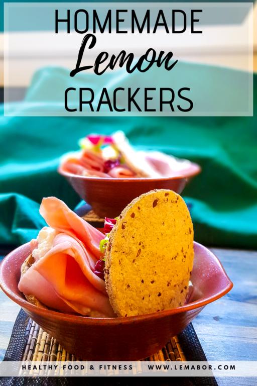 homemade lemon crackers