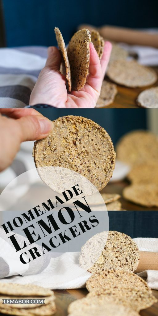 homemade lemon crackers