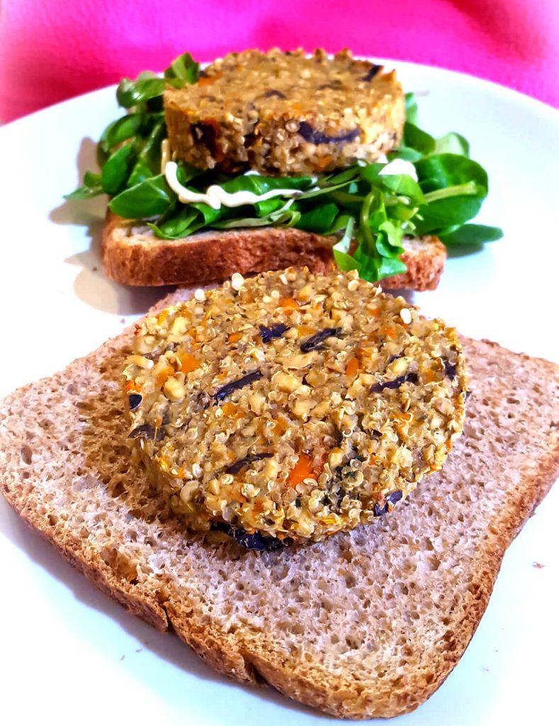 burger vegetale di quinoa