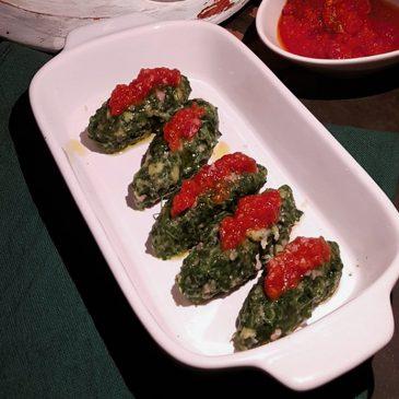 Quenelle di spinaci e prosciutto cotto
